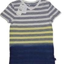 Splendid Boy's Dip Dye Bands Stripe v-Neck S/s Tshirt  Nwt  46  7 Photo
