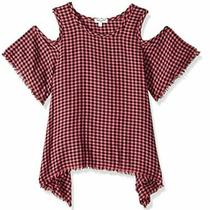 Splendid Girl's Checkered Cold Shoulder Top8-10preowned Photo