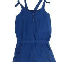 Splendid Girls Blue Spaghetti Strap Romper Jumpsuit Size 10 Photo