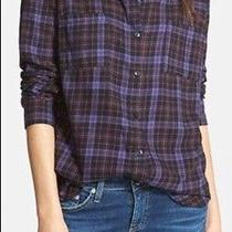 Splendid Hayes Plaid Shirting Button Down Top Size S Small Photo
