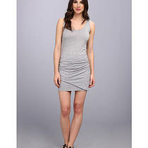 Splendid Heather Gray Rouched Mini Dress Sz Large Retail 138.00 Photo