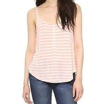 Splendid M Glen Valley Stripe Henley Cami Tank Top Aso Jessica Alba Apricot Nwt Photo