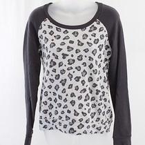 Splendid Multi Gray Animal Print Scoop Neck Shirt Top Sz S Photo