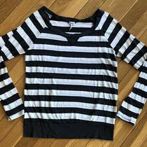 Splendid Shirt White & Gray/blue Stripe Super Soft Fabric Womens Size Small Photo