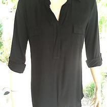 Splendid Super Soft Black Light Knit Sweater/blouse/top Medium Photo