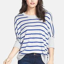 Splendid   Upton   Space  Stripe Cashmere Blend  Sweater    Sz M  New   158  Photo