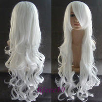 Splendid Vogue Women's Long Oblique Bang Curly Anime Party Cosplay Full Hair Wig Photo