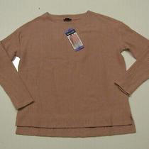 Splendid Waffle Knit Tunic L/s Shirt Pink Blush Thermal Size Xs Nwt Womens  Photo