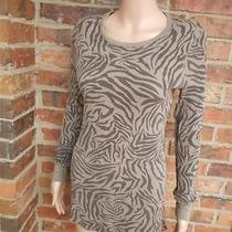 Splendid Waffle Thermal Top M/l Pima Cotton Blend Scoop Neck Long Sleeve Brown Photo