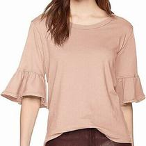 Splendid Women's Blouse Blush Pink Size Small S Ruffled Flounce Sleeve 68- 018 Photo
