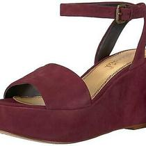 Splendid Women's Felix Wedge Sandal Plum Size 8.0 Bn0w Photo