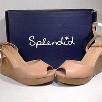 Splendid Women's Size 9.5 Danaka Blush Wedge Ankle Strap Heels Sandals Zh-765 Photo