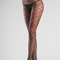 Splendid Womens Clothing Lovely Sexy Adult Sheer Diamond Pattern Tights Black Os Photo