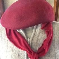 Splendide Career Collection Vintage Wine 100% Wool Women's Scarf Hat  Photo