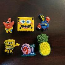 Spongebob 6pc Set Shoe Charms for Crocs Bracelet Charms Hair Charms Jibbitz Photo