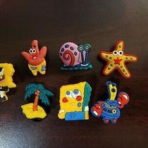Spongebob Gary 7pc Set Shoe Charms for Crocs Bracelet Charms Hair Charms Jibbitz Photo