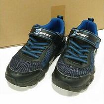 Sport by Sketchers Boys Black Sneaker Shoes Sz 13 Daxton Style Back to School Photo