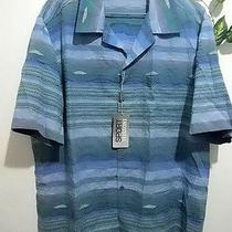 Sport Missoni Blue Green Stripe Design Men Short Sleeve Shirt Size 2xl 58 Eu New Photo