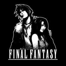 Squall and Rinao T-Shirt  Final Fantasy Playstation Video Game Shirt  Photo