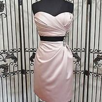 Sr320 Love by Enzoani A15 Blush and Black Sz 12 Formal Gown Dress Photo