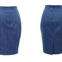 Ssongbyssong Womens Rody Chloe Denim Striped Skirt High End Fashion Brand Photo