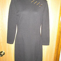 St John Collection Black Santana Knit Dress Photo