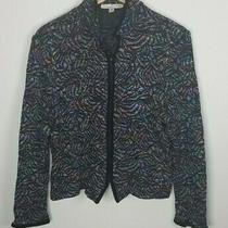 St. John Collection by Marie Gray Sz. 16 Long Sleeve Multicolor Full Zip Jacket Photo