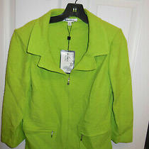 St. John Collection Lime Wool Blend Blazer / Coat Jacket - Size 6 Photo