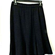 St. John Collection Sz 2 Knit Skirt Black Photo