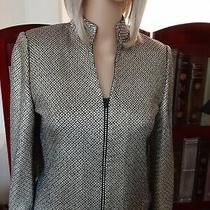 St John Couture Evening Jacket Total Gold Paillette Sequins & Crystals Sz 2 / Xs Photo