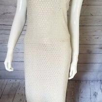 St. John Evening Gown Sz 2 Gold Embellish Bead Sleeveless Rayon Wool Dress 1995 Photo