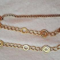 st.john Gold Tone Metal Chain Button Design  Belt Necklace  Size S/m Photo