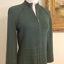 St. John Jacket Medium Green Jacket Sweater Size Petite Small 2 4 Photo