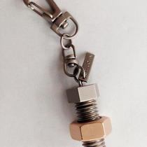 St John Key Chain Key Ring Silver Bolt With Gold Nut With Plaque  Photo