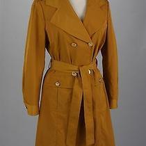 St John Knits Black Label Cotton Fabric Tuscan Gold Coat Size 6 Nwt Msrp 1100 Photo