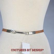 St John Knits Cognac Leather Belt Nwt Photo