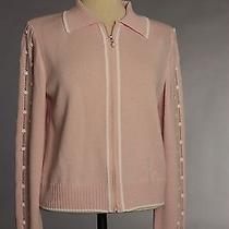 St John Knits Collection Santana Knit Blush Jacket Size 12 Nwt Photo