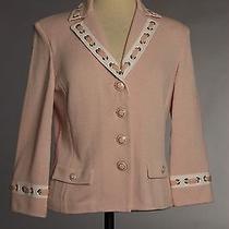 St John Knits Collection Santana Knit Blush Jacket Size 6 Nwt Photo