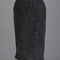 St John Knits Couture Novelty Knit Charcoal Skirt Size 10 Photo