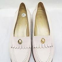 St John Knits Light Pink Peach Leather Loafers Flats Driving Shoes 8.5 M Photo