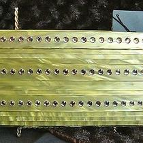 St. John Mother of Pearl Evening Clutch Pale Green Crystals W/storage Bag Nwt Photo