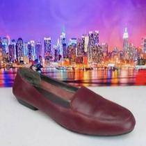 St John's Bay Cranberry Red Leather Slip on Loafers Flats Womens Shoes Sz 8.5 M Photo