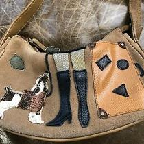 St John's Bay Leather Suede Small Purse With Cocker Spaniel Dog Boots Suitcase Photo