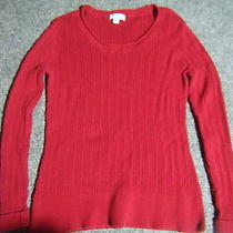 St. John's Bay Woman's Cable Knit Red Sweater Size Xl Photo