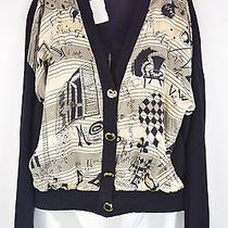 St. John Separates Scribble Art Knit Cardigan - Size Small Photo