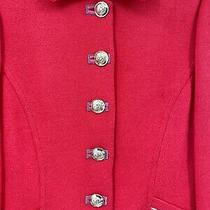 St. John- Size 8 Santana Knit Gold Button Trim Jacket Blazer Photo
