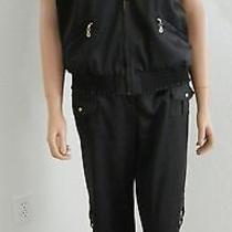 St John Sport Black Pant Suit Vest Size Large Pants Size 12 - Beautiful & Chic Photo
