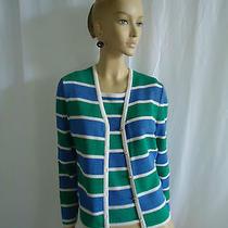st.john Sport Bright Colors Santana Knit  Twinset Top Cardigan Size P/m Photo