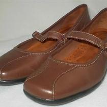 St Johns Bay Mary Janes Flats Brown Leather Comfort Shoe 8 M Photo