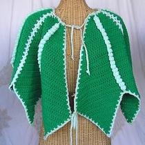 St Patrick's Day Four Leaf Clover Crochet Shawl Made by Grandma One Size Photo